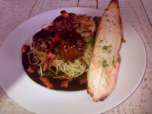 lamb spaghetti and meatballs